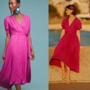 Anthropologie Breanna Wrap Dress By Maeve
